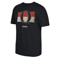 Ottawa Senators CCM Retro Logo Tri-Blend T-Shirt