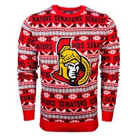 Ottawa Senators NHL Big Logo Ugly Crewneck Sweater