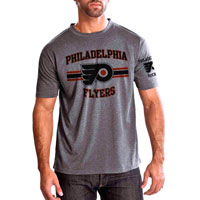 Philadelphia Flyers Bar Stripe Performance FX T-Shirt (Heather Pepple)