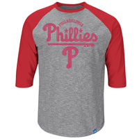 Philadelphia Phillies Fast Win 3 Quarter Sleeve T-Shirt