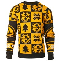 Pittsburgh Steelers NFL Patches Ugly Crewneck Sweater