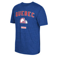 Quebec Nordiques CCM Retro Stitches Tri-Blend T-Shirt