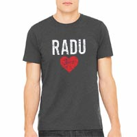 RaduLOVE Vintage Heathered Charcoal T-Shirt