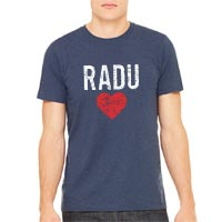 RaduLOVE Vintage Heathered Navy T-Shirt