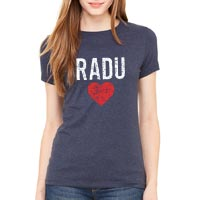 RaduLOVE Women's Vintage Heathered Navy T-Shirt