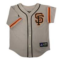 San Francisco Giants Majestic Child Road Replica Baseball Jersey