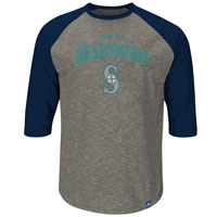 Seattle Mariners Fast Win 3 Quarter Sleeve T-Shirt