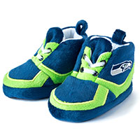 Seattle Seahawks Sneaker Baby Booties
