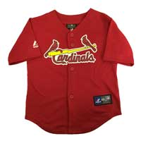 St. Louis Cardinals Majestic Child Alternate Replica Baseball Jersey (Scarlet)