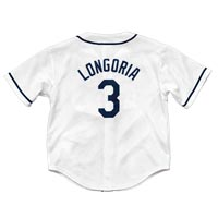 Tampa Bay Rays Evan Longoria Majestic Child Home Replica Baseball Jersey