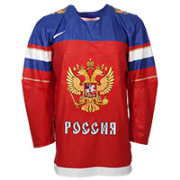 Team Russia IIHF 2016-17 Official Twill Replica Hockey Jersey