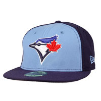 Toronto Blue Jays Authentic Fitted MLB Baseball Cap (Sky Blue-Navy)