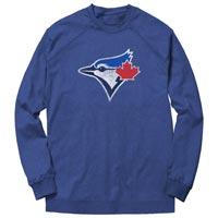 Toronto Blue Jays Distressed Logo French Terry Crew (Heather Royal)