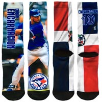 Toronto Blue Jays Edwin Encarnacion Player Photo Mega Flag Crew Socks
