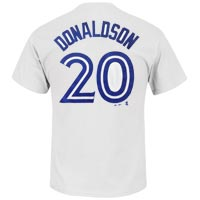 Toronto Blue Jays Josh Donaldson MLB Player Name & Number T-Shirt (White)