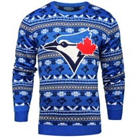 Toronto Blue Jays MLB Big Logo Ugly Crewneck Sweater