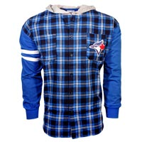 Toronto Blue Jays MLB Flannel Hooded Long Sleeve Shirt