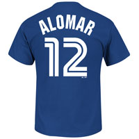 Toronto Blue Jays Roberto Alomar Cooperstown Player Name & Number T-Shirt