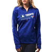 Toronto Blue Jays Women's AC Team Choice Quarter Zip Streak Fleece