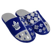 Toronto Maple Leafs Men's Ugly Sweater Knit Slippers