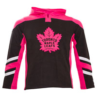 Toronto Maple Leafs Youth Blush Long Sleeve hooded Top
