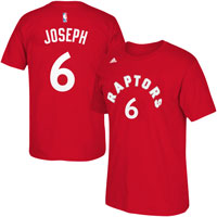Toronto Raptors Cory Joseph NBA Name & Number T-Shirt – Red