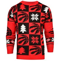 Toronto Raptors NBA Patches Ugly Crewneck Sweater