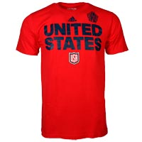 USA Hockey World Cup Of Hockey Team Font Go To T-Shirt (Red)