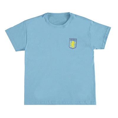 Aston Villa Classic T-Shirt – Sky Blue – Junior