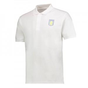 Aston Villa Classic Polo Shirt – White – Mens