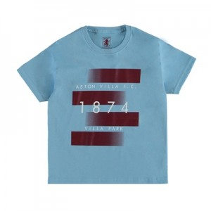 Aston Villa 1874 T-Shirt – Sky Blue – Junior