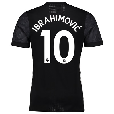 Manchester United Away Adi Zero Shirt 2017-18 with Ibrahimovic 10 prin