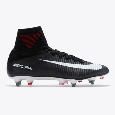 Nike Mercurial Superfly V Soft Ground Football Boots – Black/White/Dar