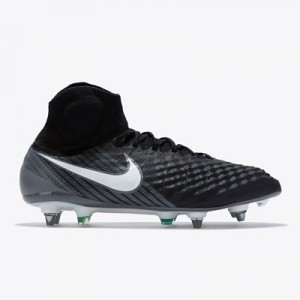 Nike Magista Obra II Soft Ground Football Boots – Black/White/Dark Gre