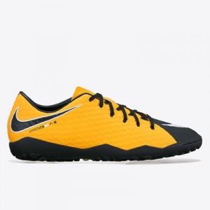Nike Hypervenom Phelon III Astroturf Trainers – Laser Orange/Black/Bla