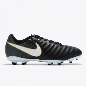 Nike Tiempo Ligera IV Firm Ground Football Boots – Black/White/Black –