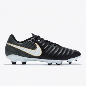 Nike Tiempo Ligera IV Firm Ground Football Boots – Black/White/Black