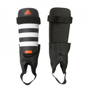 adidas Everclub Shinguards – Black/White/Solar Red