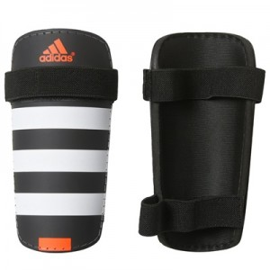 adidas Everlite Shinguards – Black/White/Solar Red
