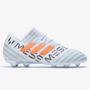 adidas Nemeziz Messi 17.1 Firm Ground Football Boots – White/Solar Ora