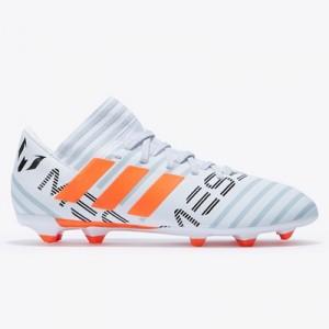 adidas Nemeziz Messi 17.3 Firm Ground Football Boots – White/Solar Ora