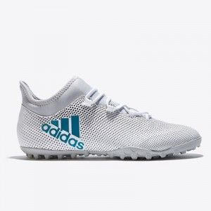 adidas X Tango 17.3 Astroturf Trainers – White/Energy Blue/Clear Grey