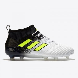 adidas Ace 17.1 Firm Ground Football Boots – White/Solar Yellow/Core B