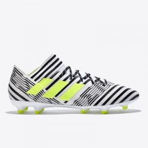 adidas Nemeziz 17.3 Firm Ground Football Boots – White/Solar Yellow/Co
