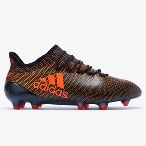 adidas X 17.1 Firm Ground Football Boots – Core Black/Solar Red/Solar