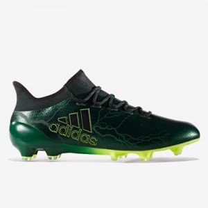 adidas X 17.1 Firm Ground Football Boots – Core Black/Core Black/Solar