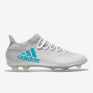 adidas X 17.2 Firm Ground Football Boots – White/Energy Blue/Clear Gre