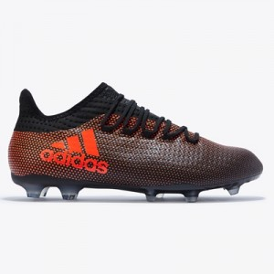 adidas X 17.2 Firm Ground Football Boots – Core Black/Solar Red/Solar