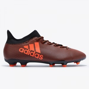adidas X 17.3 Firm Ground Football Boots – Core Black/Solar Red/Solar