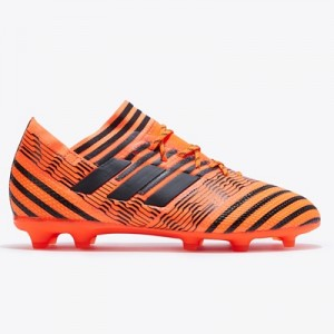 adidas Nemeziz 17.1 Firm Ground Football Boots – Solar Orange/Core Black/Solar Red – Kids